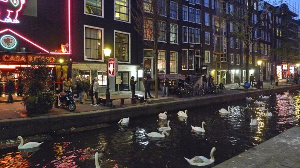 Streets and canals of Old Amsterdam