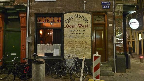 o cafenea in centrul Amsterdamului