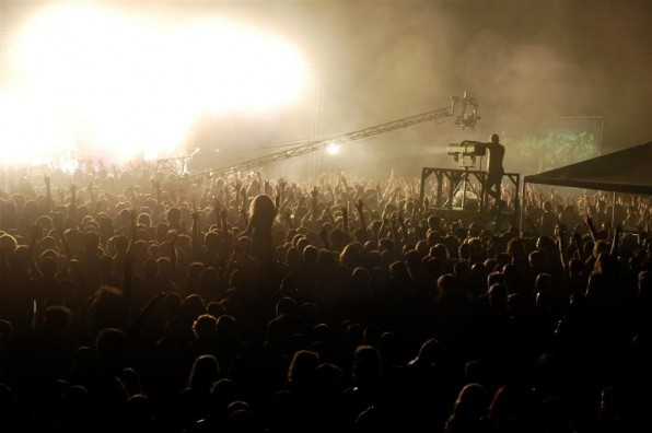 The crowd at Stufstock festival, circa 2005